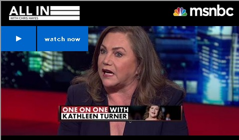 "Image for PFAW Foundation Board Member Kathleen Turner Discusses Abortion Access, the ""Personhood"" Movement on ""All In with Chris Hayes"""