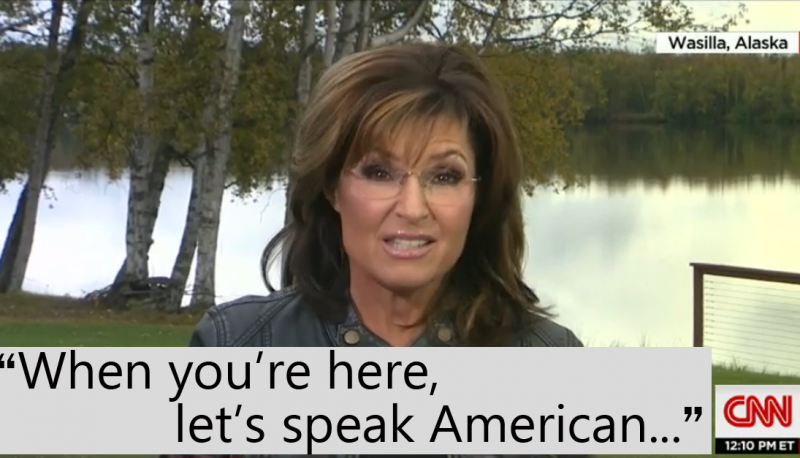 Image for Watch Sarah Palin Remind Us That She's Sarah Palin