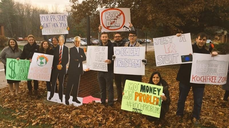 Image for Koch Communications Officer Delivers Spin to St. Anselm's College, Activists Call Out #KochProblem