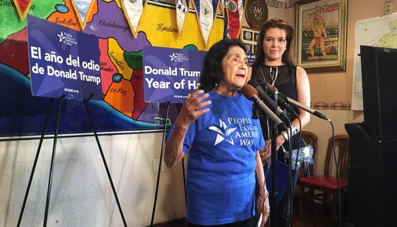 "Image for PFAW Launches ""Donald Trump's Year of Hate"" Campaign with Dolores Huerta and Former Miss Universe Alicia Machado"