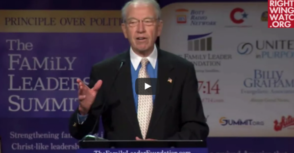 Grassley Still Pretending That His Supreme Court Blockade Was A Matter Of Principle