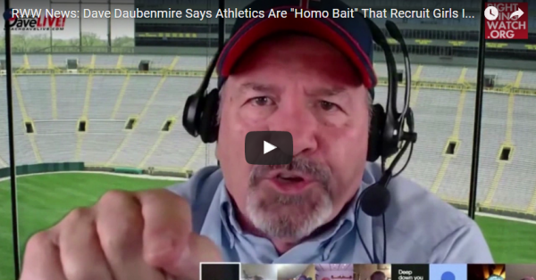 Softball Couldn't Turn Dave Daubenmire's Daughters Into Lesbians Because 'They Weren't Cropped-Haired Wide-Bottomed Girls'