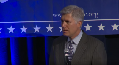 Image for Neil Gorsuch Continues to Flaunt Inappropriate Partisanship