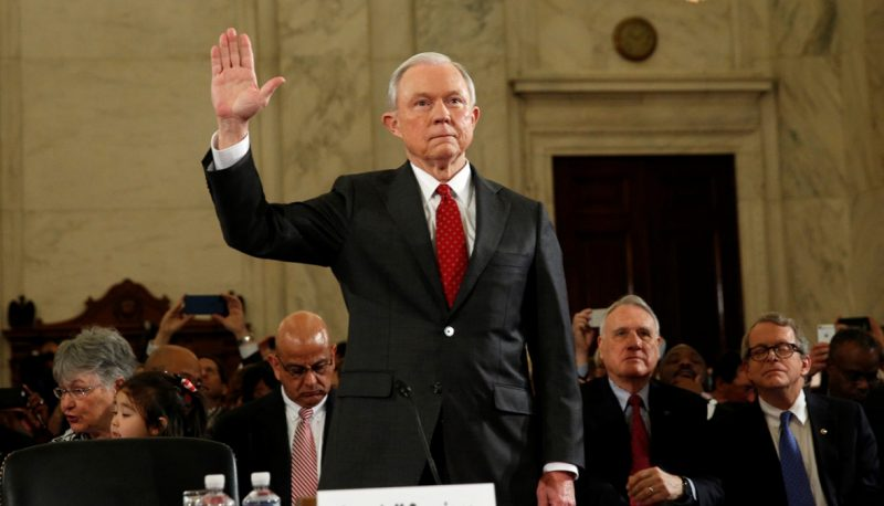 Image for Jeff Sessions Won't Even Say Racism Exists