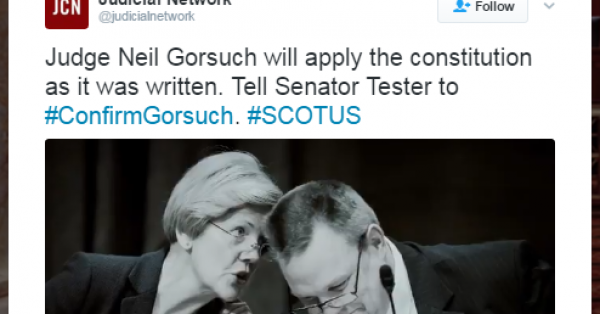 Koch-Connected Group Backs Gorsuch With $10 Million Ad Campaign