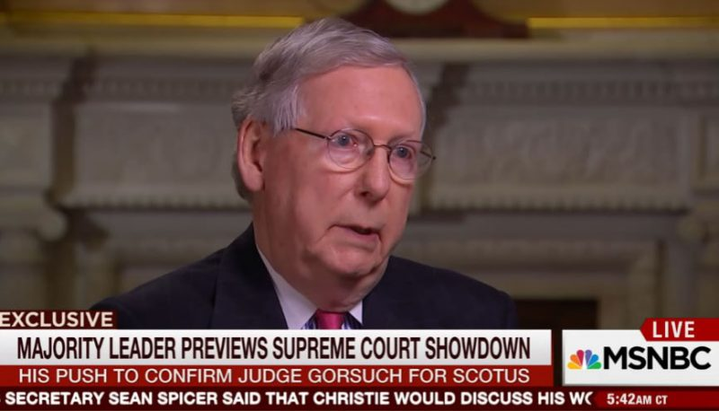 "Image for Mitch McConnell on Gorsuch: ""We'll have to get 60 votes."""