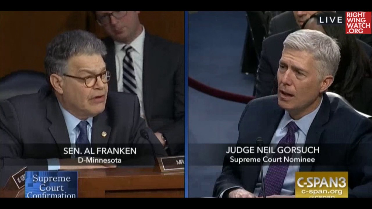 Al Franken Quizzes Gorsuch's Dissent In Frozen Trucker Case: 'That's Absurd'