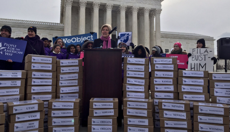 Image for Coalition Delivers 1 Million+ Petitions to #StopGorsuch