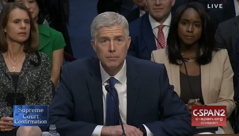 Image for Gorsuch Still Won't Say If He Spoke About Roe v. Wade