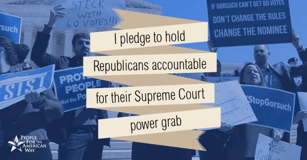 "Pledge to Hold Republicans Accountable for ""Going Nuclear"""