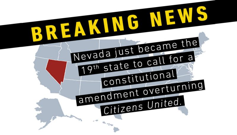 Image for Amendment to Overturn Citizens United Reaches New Milestone