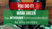 Mark Green Withdraws from Army Secretary Nomination Following Outcry from PFAW and Allies