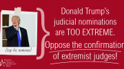 Tell your senators to oppose Trump's extreme judicial nominees!