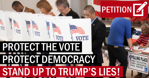 "Tell Congress: Stop Trump's delusional ""voter fraud"" witch hunt!"
