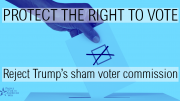 Resist Trump's sham voter commission!