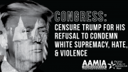 Congress: Censure Trump for his refusal to denounce white supremacy!