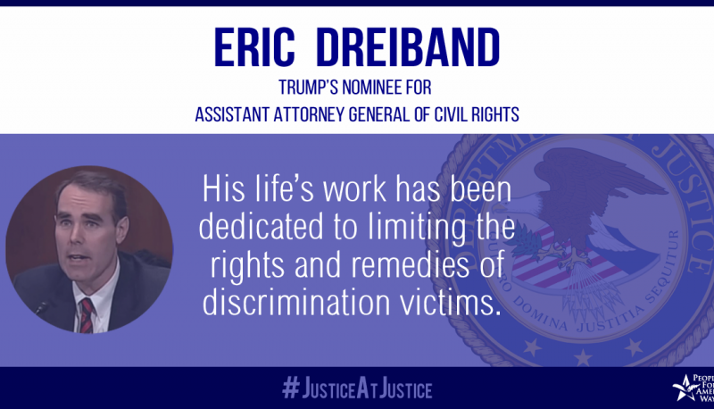 Image for Letter: The Judiciary Committee Should Reject Eric Dreiband's Nomination