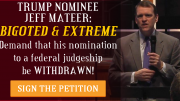 Tell Senators: Call for the Nomination of Jeff Mateer to be WITHDRAWN!