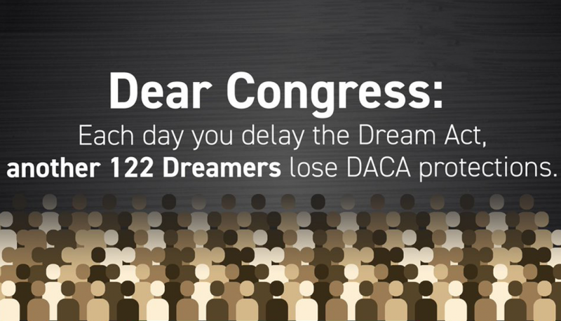Image for Ask Your Lawmakers to Pass the #DreamActNow: Sample Script
