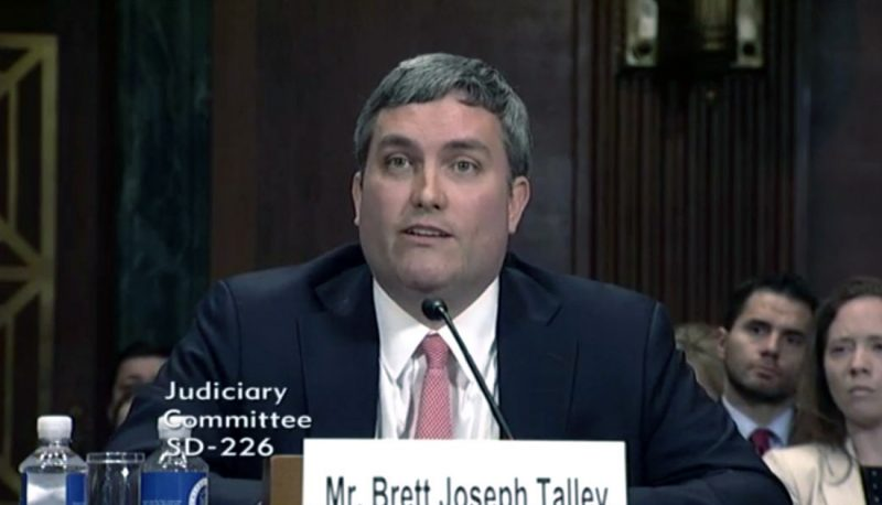 Controversial Judicial Nominee Brett Talley Withdraws Nomination