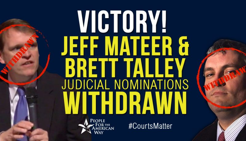 Image for White House Withdraws Two Controversial Judicial Nominations