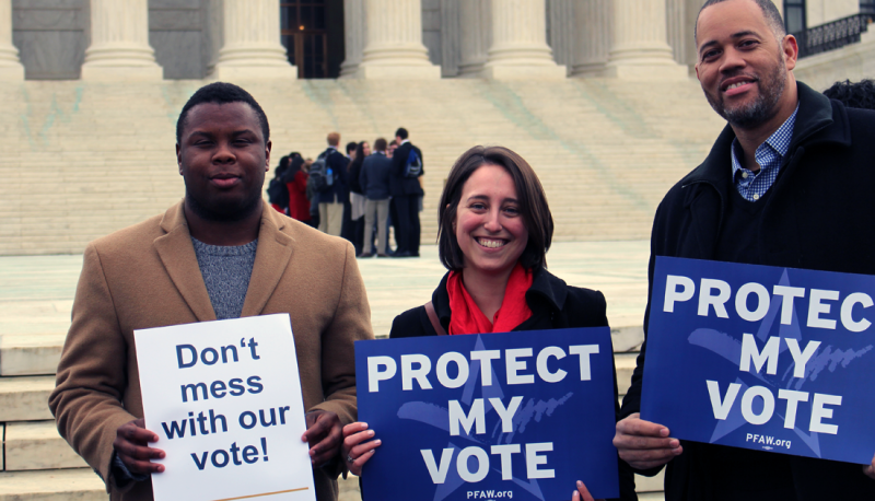 PFAW Joins Allies at the Supreme Court to Rally for Voting Rights