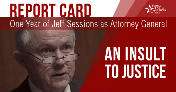 One Year of Jeff Sessions as Attorney General