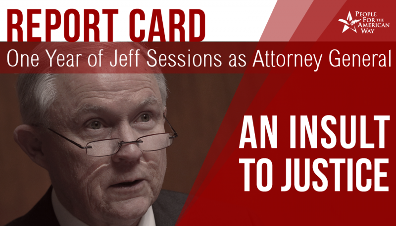 "Image for Report Card on One Year of Jeff Sessions as Attorney General: ""An Insult to Justice"""