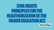 PFAW Supports Civil Rights Principles for Higher Education Act Reauthorization
