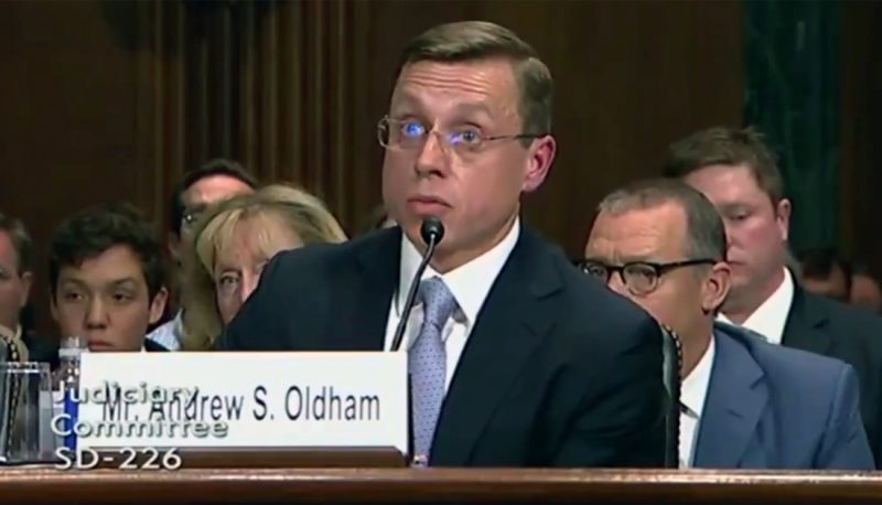 Image for Trump Nominee Andrew Oldham's Committee Testimony Strains Credulity