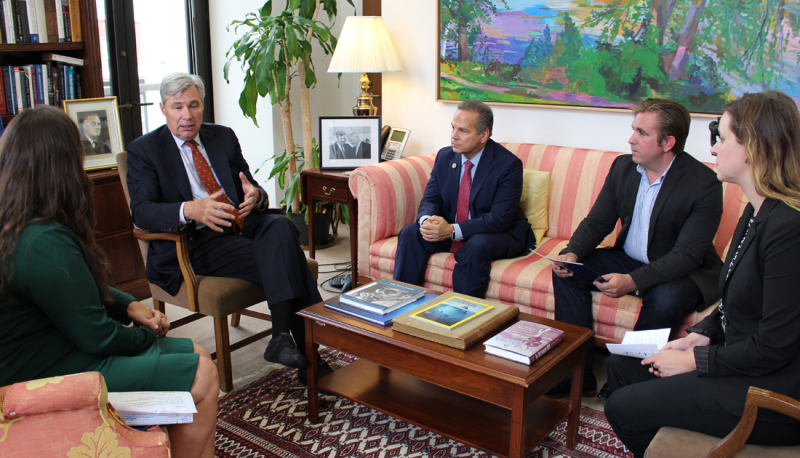 Image for Senator Whitehouse and Congressman Cicilline Join PFAW to Discuss the DISCLOSE Act and Big Money in Politics