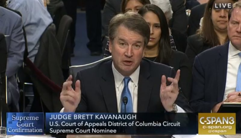 Image for Brett Kavanaugh Refuses to Criticize Trump's Attacks on the Judiciary