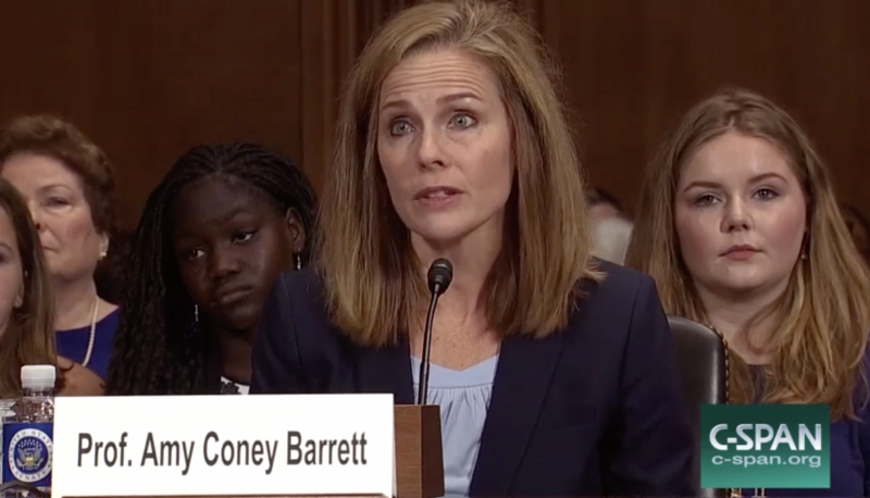 Image for Confirmed Judges, Confirmed Fears: Amy Coney Barrett Tries to Overturn Law Banning People Convicted of Felonies from Possessing Firearms