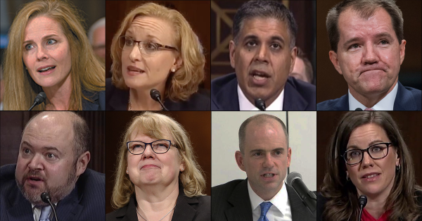 Opinions of Trump Appellate Judges on Trump Supreme Court Short List