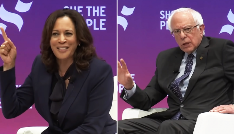 Image for #VoteTheCourts2020: Bernie Sanders and Kamala Harris Discuss the Courts at She the People