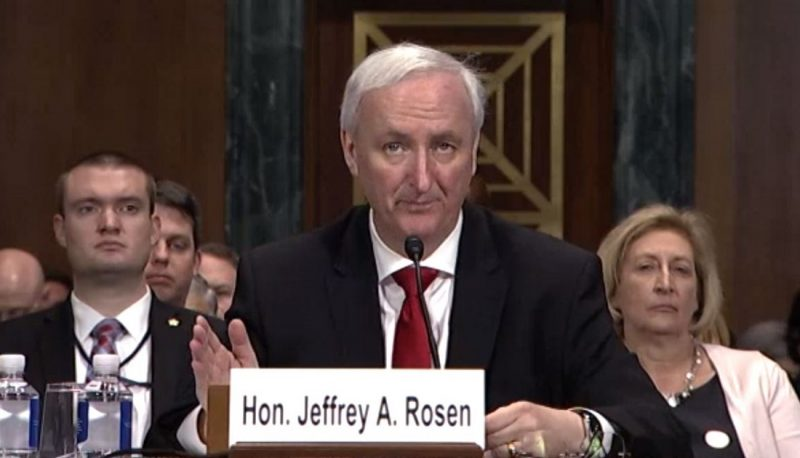 With Rule of Law Threatened, Senate Cannot Defer to Trump-Barr Choice of Jeffrey Rosen for Deputy Attorney General