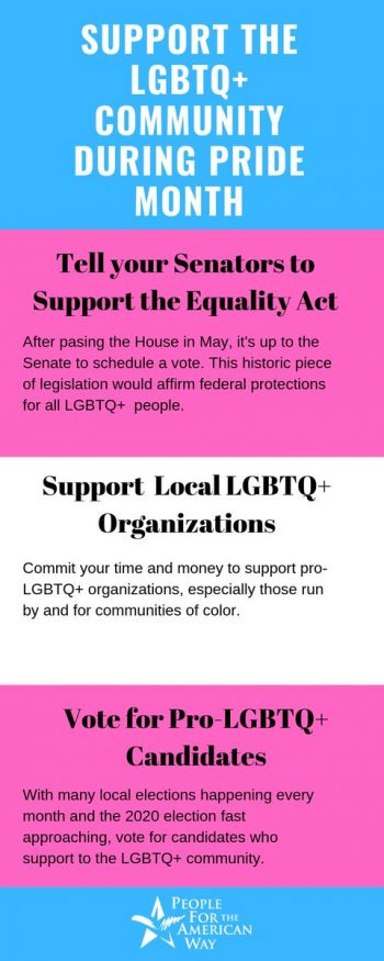 Support the LGBTQ+ community during Pride Month