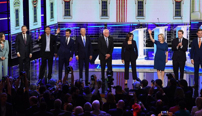 Image for Democratic Presidential Debates Underscore the Role of Reproductive Rights in the 2020 Election