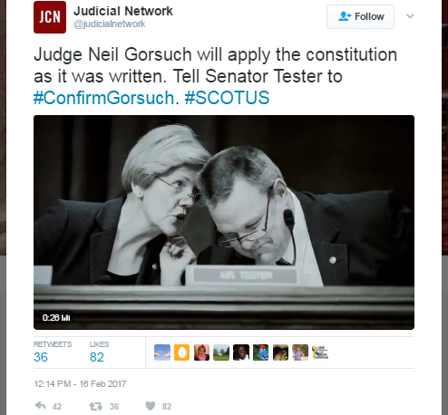 Image for Koch-Connected Group Targets Sen. Tester on the Supreme Court, But Montanans Support Tester's Efforts to Protect Our Democracy