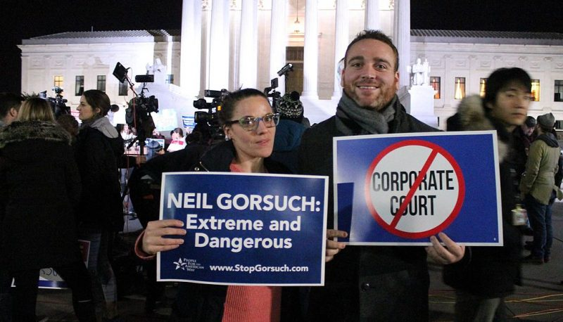 Image for Gorsuch Can't Be Independent While Connected to Conservative Supporters