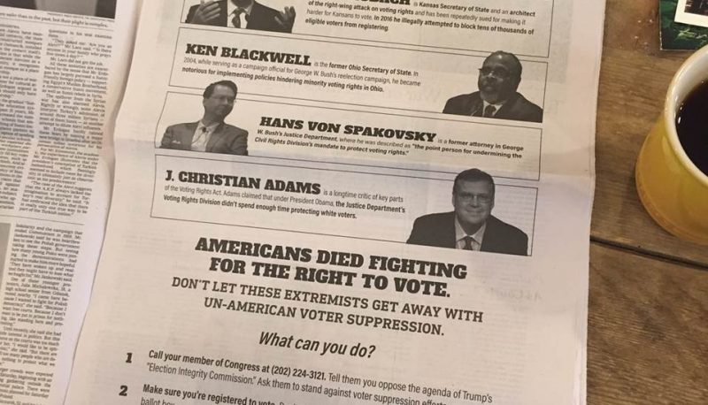 "Image for PFAW Foundation Takes Out Full-Page NYT Advertisement Exposing Trump's Sham Election ""Integrity"" Commission"