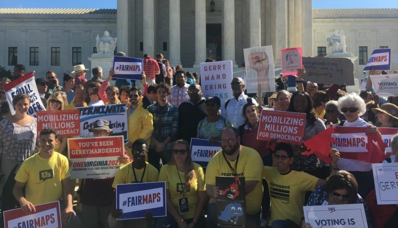 Hundreds Rally at the Supreme Court to End Partisan Gerrymandering