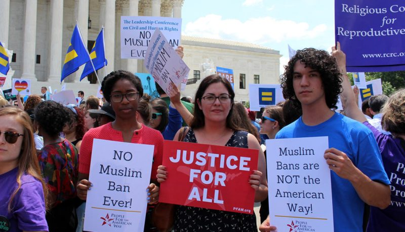 Hundreds Rally at the Supreme Court in Protest of the Muslim Ban