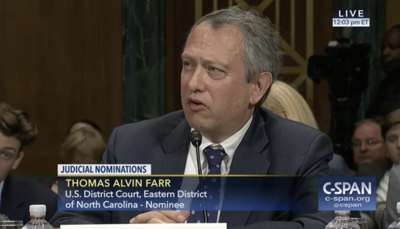 PFAW Renews Opposition to Judicial Nominee Thomas Farr