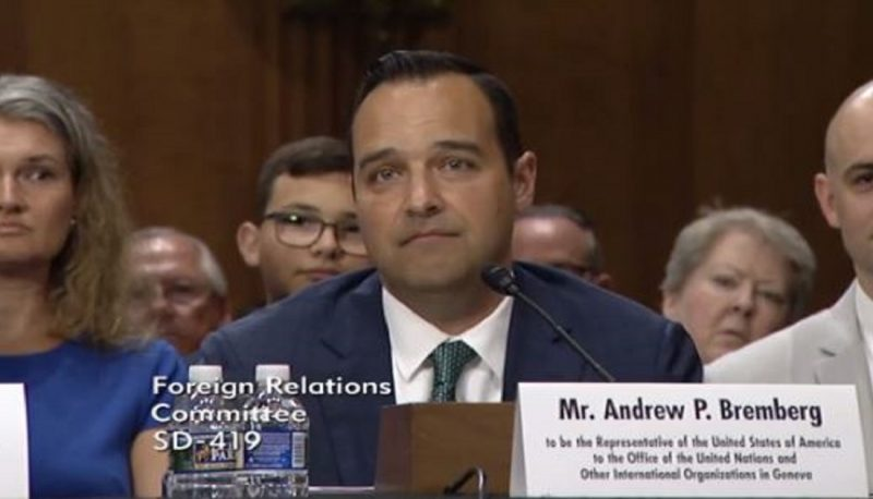 Image for United Nations Nominee Andrew Bremberg's Record and Rhetoric Clearly Demonstrate His Hostility to Human Rights