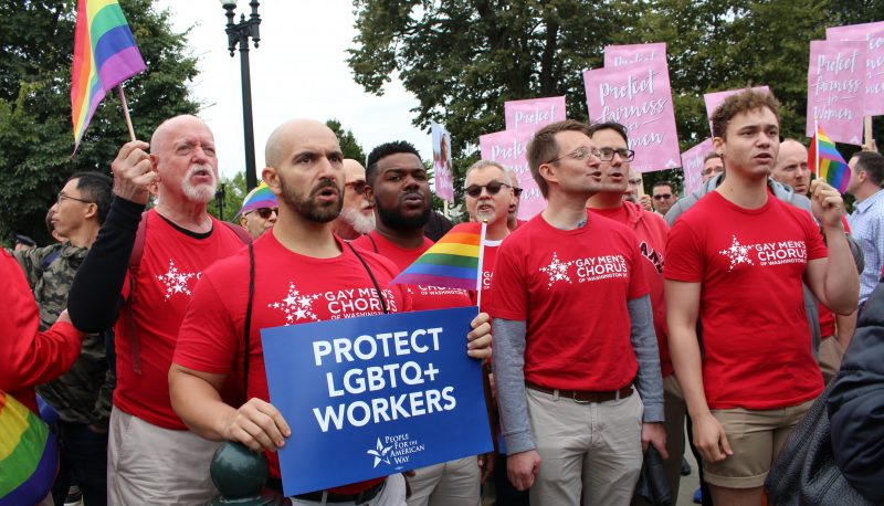 Image for PFAW and Allies #RiseUpOct8 and Rally Outside SCOTUS Building to Protect LGBTQ+ Workers
