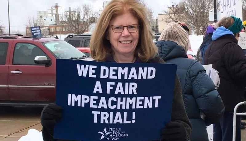 Image for Activists Rally in Des Moines and Cedar Rapids to Call on Sen. Ernst to Demand a Fair Impeachment Trial