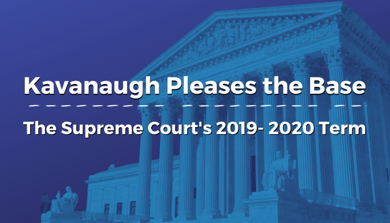 Image forKavanaugh Pleases the Base: The Supreme Court's 2019-2020 Term