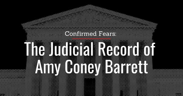 PFAW: Amy Coney Barrett Nomination Statement and Report