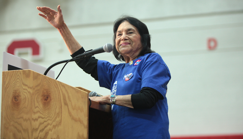 Image for Dolores Huerta: Democratic Candidates Must Earn Latino Support